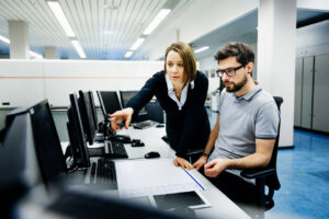it professionals collaborating over how to reduce human errors in an smb
